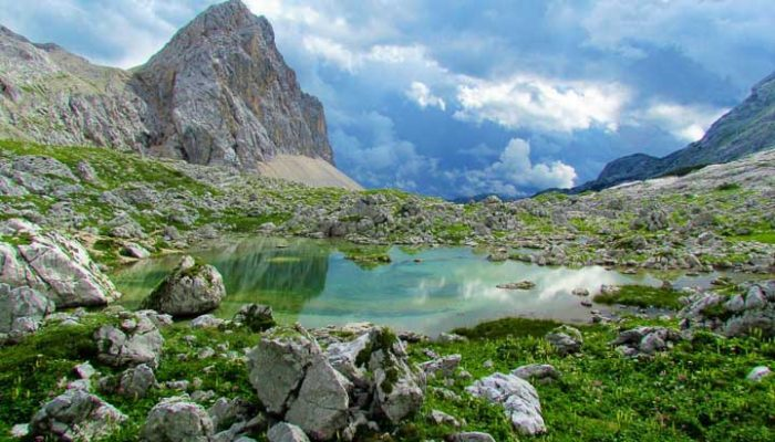Triglav lakes on hut to hut tour