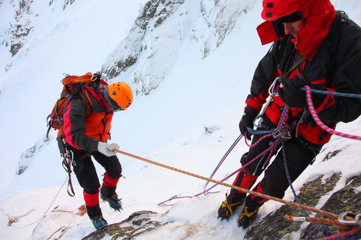 Ice climbing on Slovenian mountains