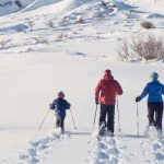Snowshoeing can also be a family activity
