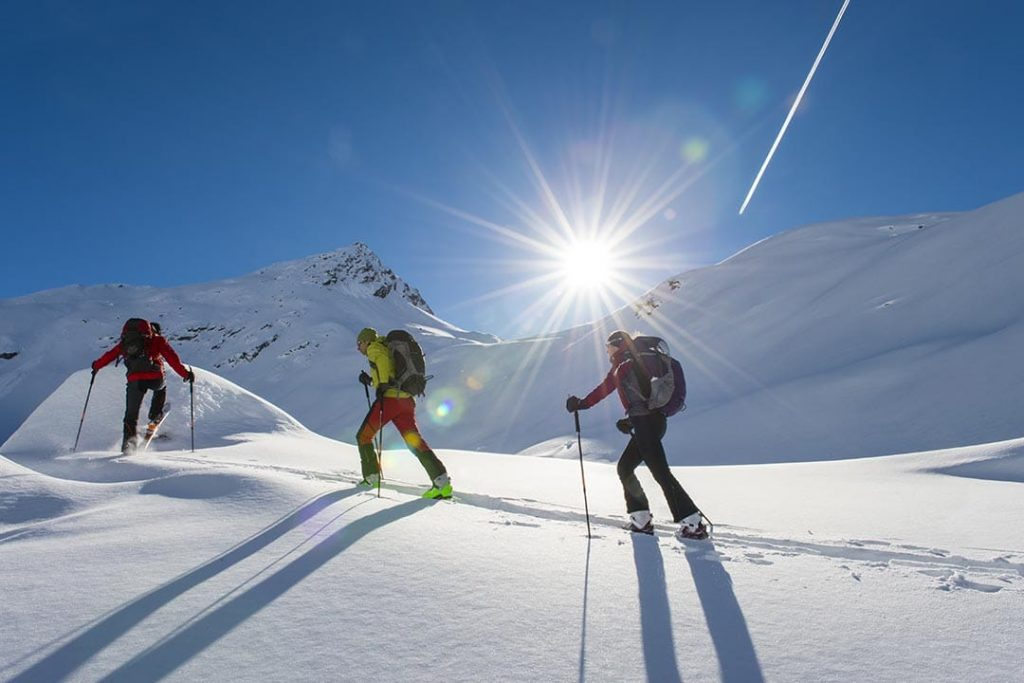 Exploring mountain world in Slovenia with cross country skiing