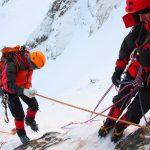 Ice climbing on Slovenian mountains
