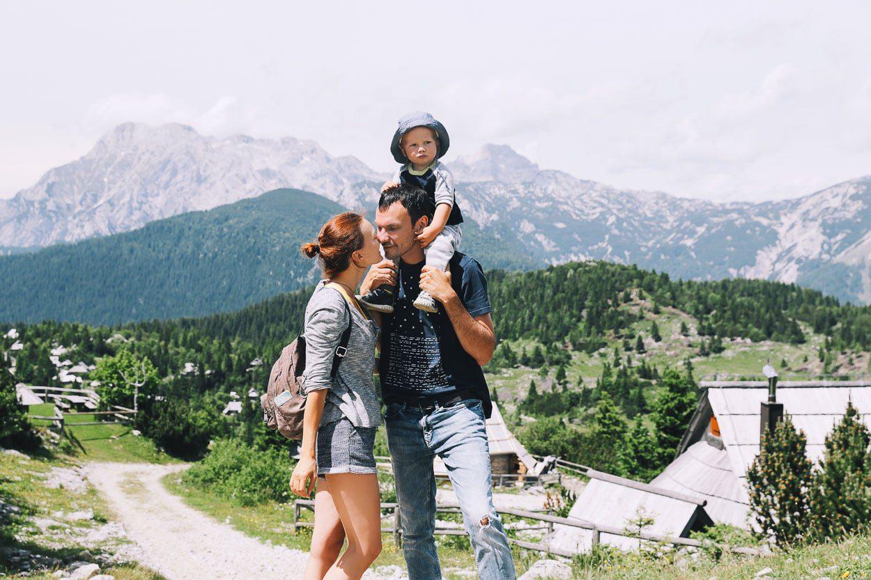 Family at Velika Planina