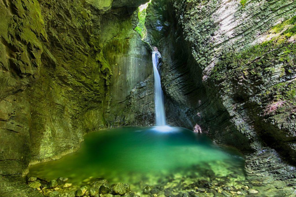 The famous Kozjak Waterfall