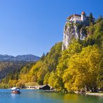 Sunny day on lake Bled