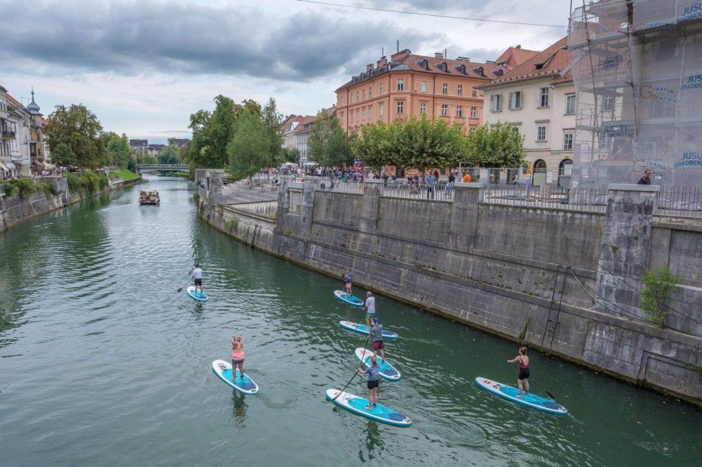 Ljubljanica stand-up paddle boarding