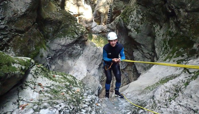 We provide all protective equipment for canyoning