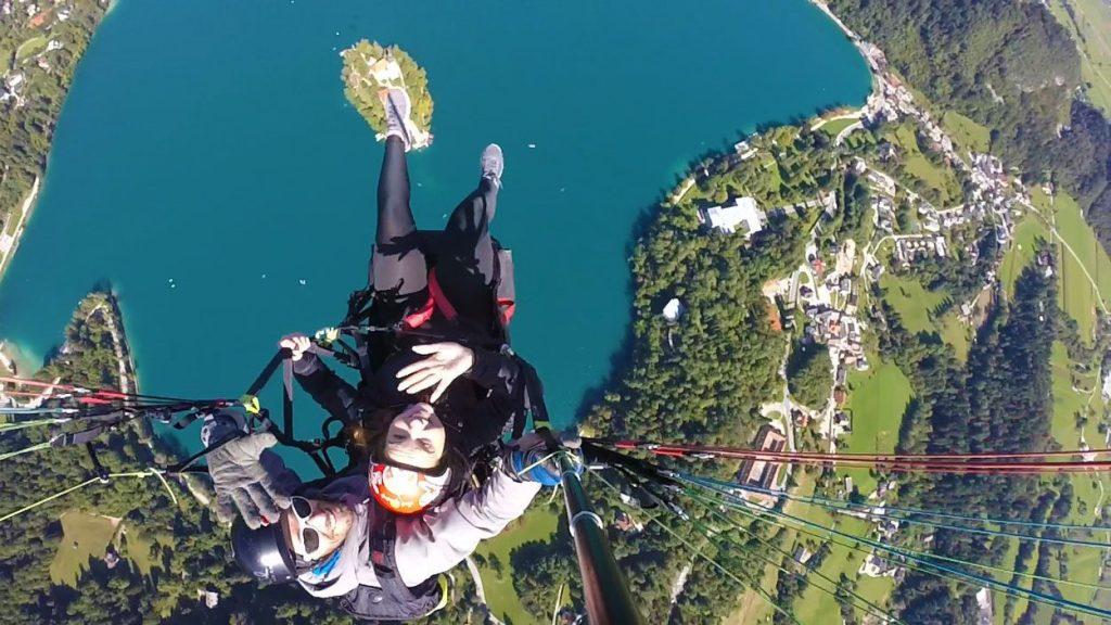 Tandem Paragliding over Lake Bled