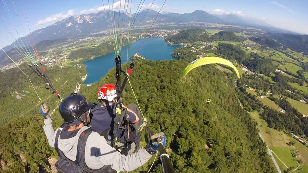 Tandem paragliding Bled