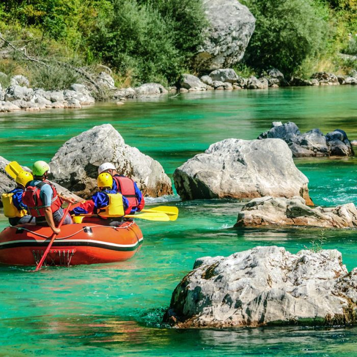 Rafting in the calm waters
