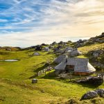 Traditional huts on Velika Planina