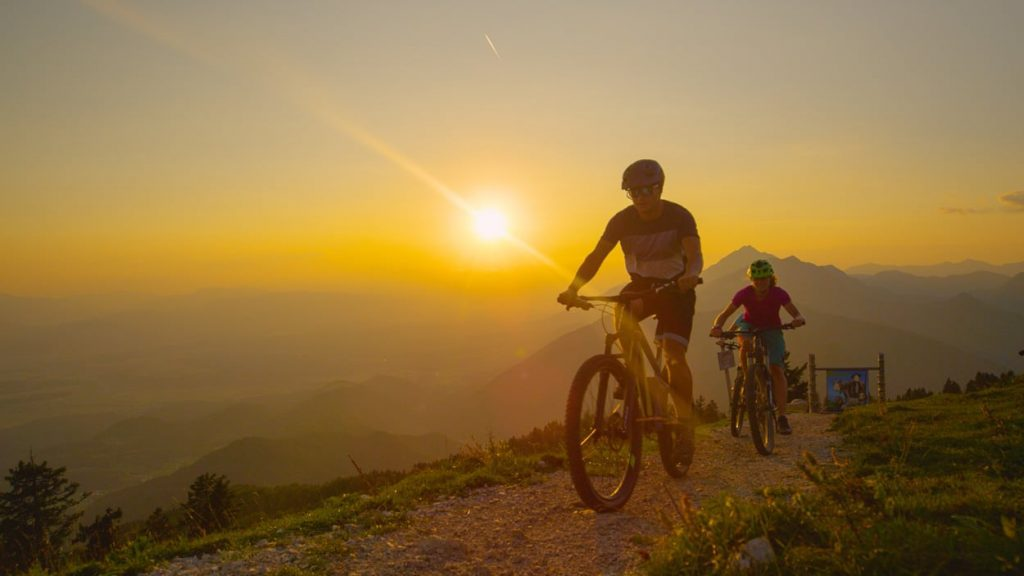 Mountain biking on Velika Planina