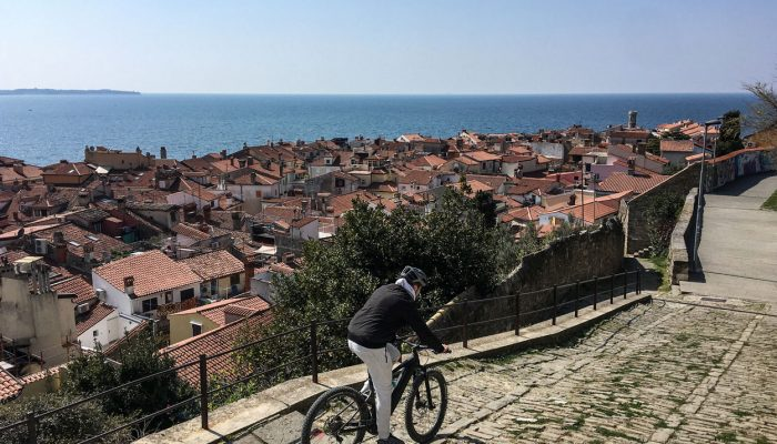 Cycling by the Slovenian coast