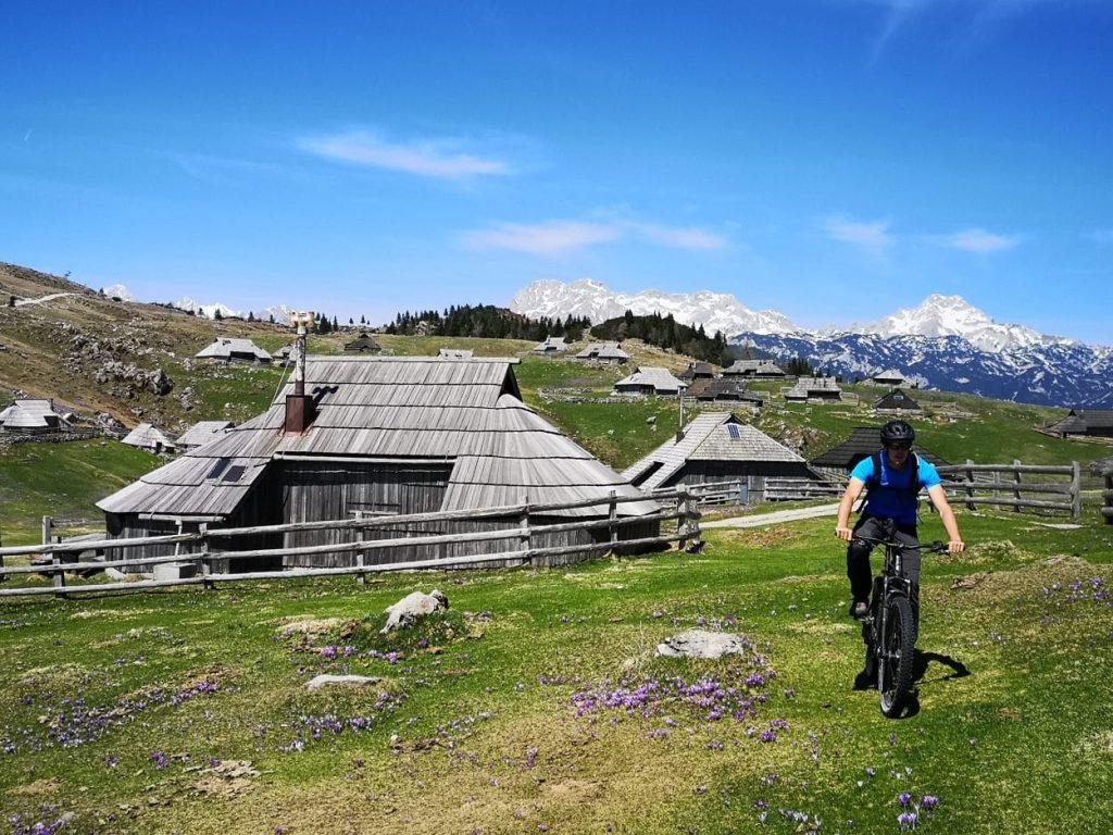 Biking thought Shepherds settlement on Velika Planina