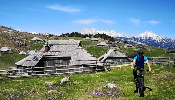 Biking thought Shepherds settlement on Velika Planina