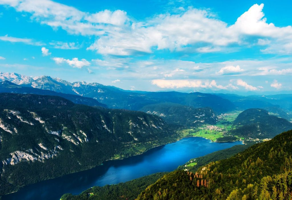 The view on Bohinj and mountains surrounding it