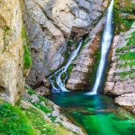 Breath taking waterfalls near Bohinj