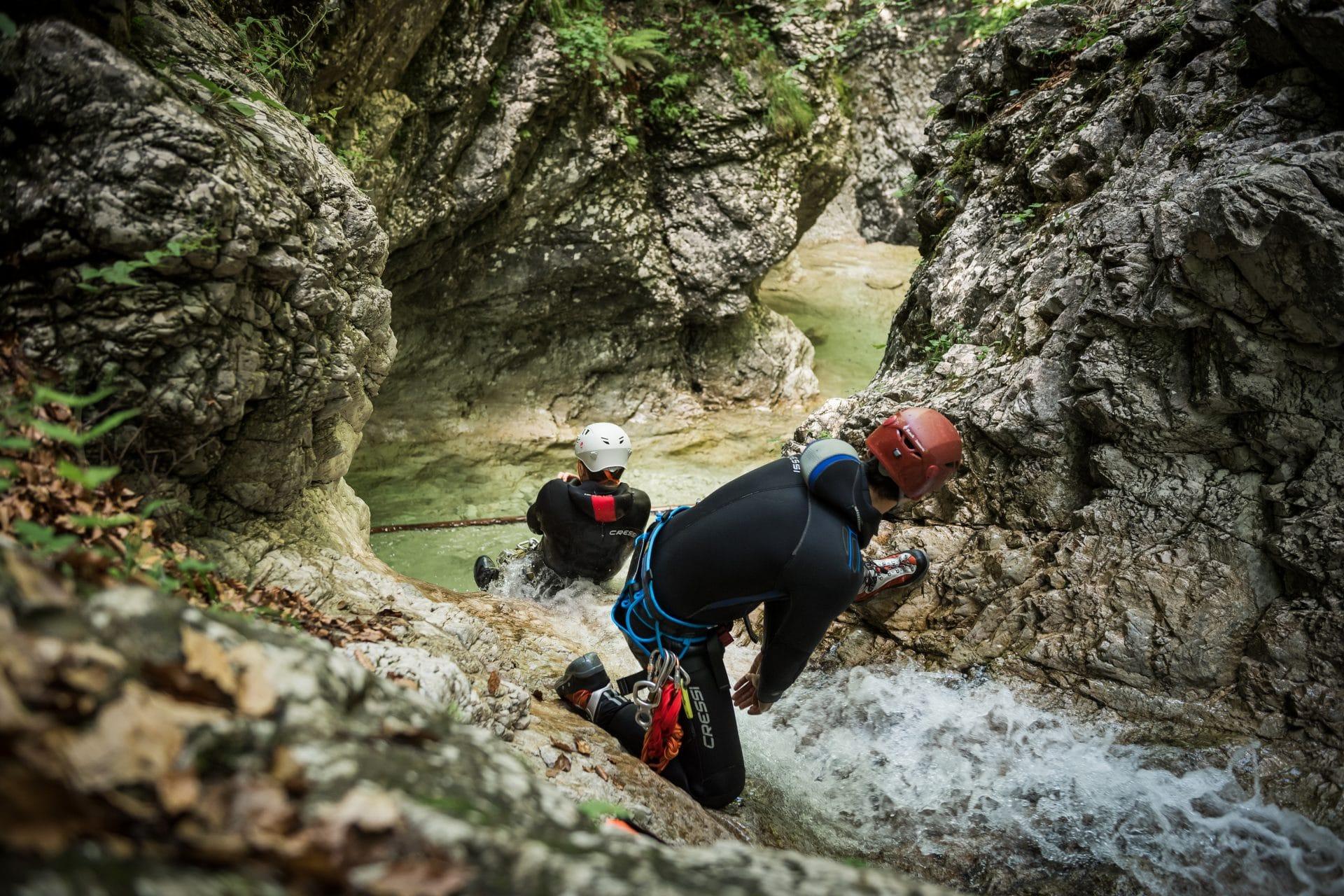 Canyoning fratarica slide