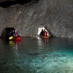 Kayaking trough caves