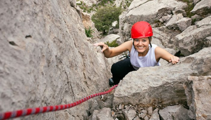 It is easier if you climb with a smile