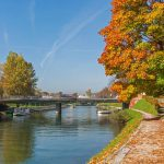 Waling on the sun next to Ljubljanica river in our capital city