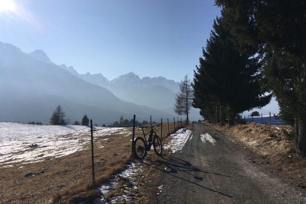 Cycling on marked paths through nature in Kranjska Gora