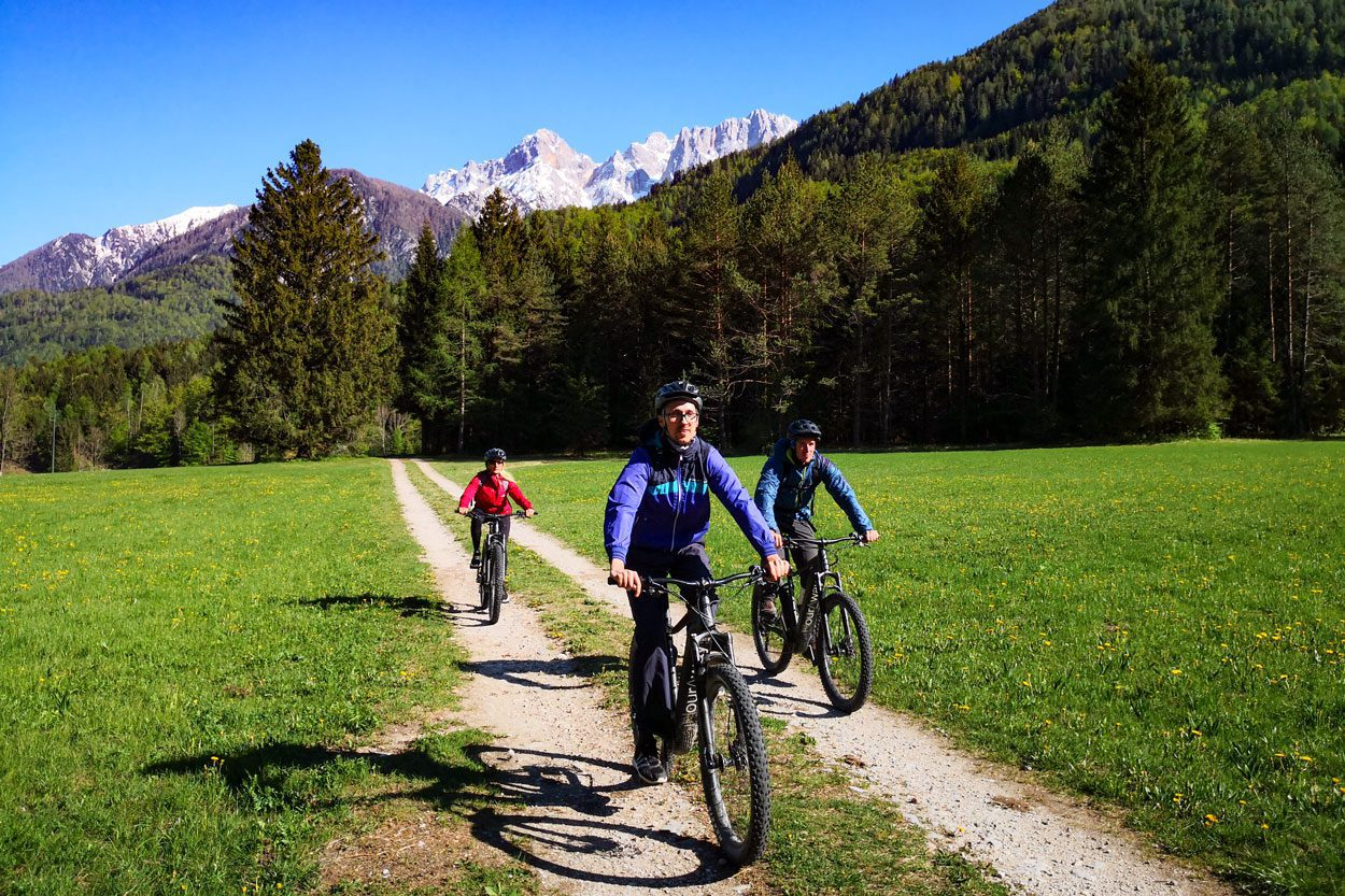 Cycling near Kranjska Gora