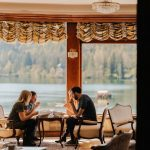 Eating kremšnita on Food Tour Bled