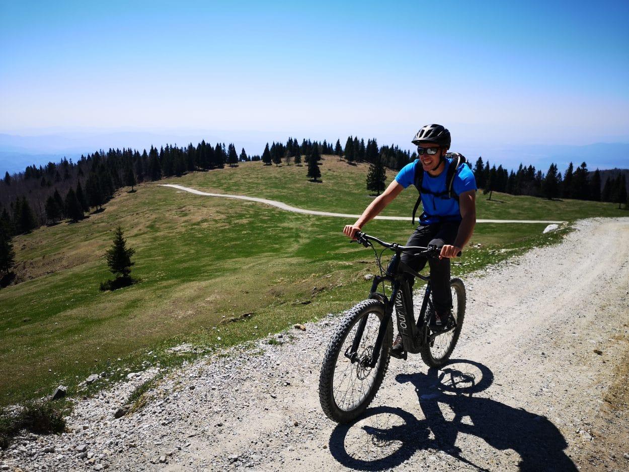 Happy-biker-gravel-road