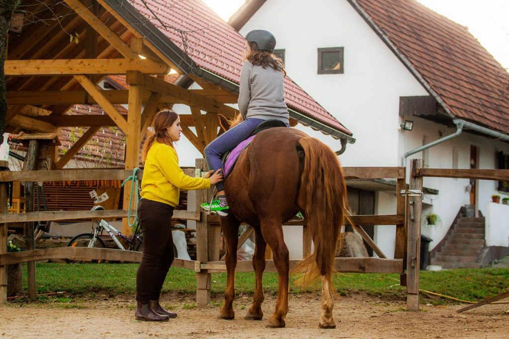 Horse riding experience Slovenia for families