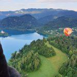 Hot air ballon flight over Lake Bled