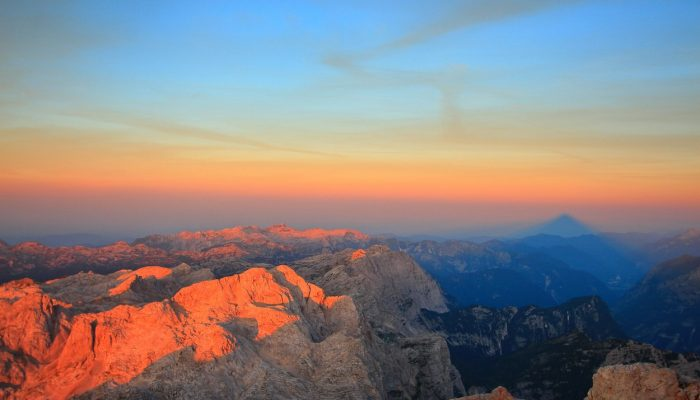 The view on Slovenia's highest mountains