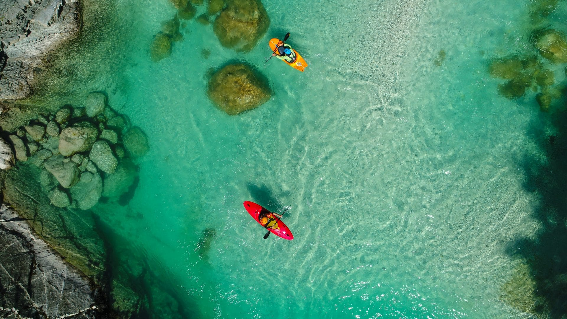 kayaking on soca river