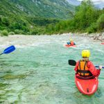 Kayaking on Soča river