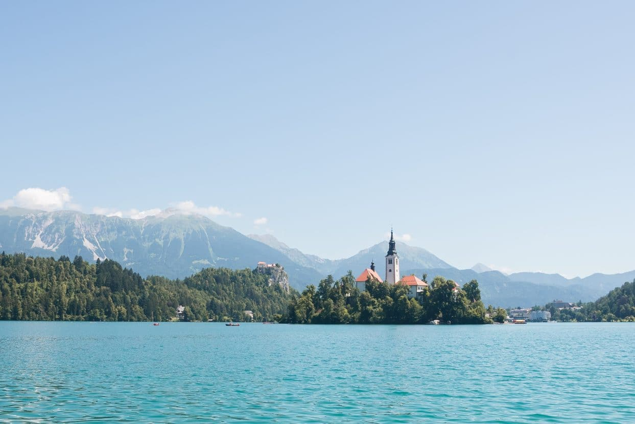 Lake bled with island
