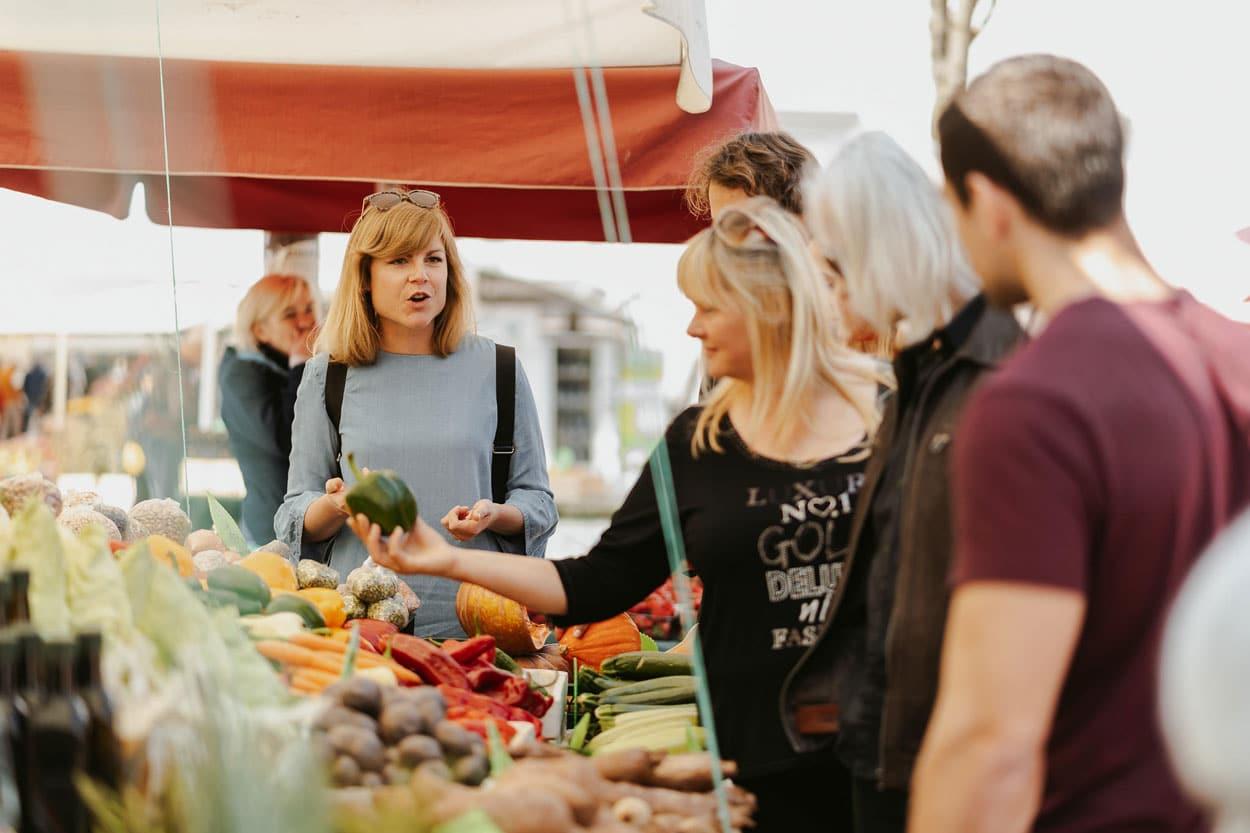 Food market in Ljubljana
