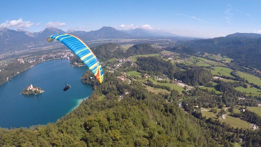 Paragliding flight Bled