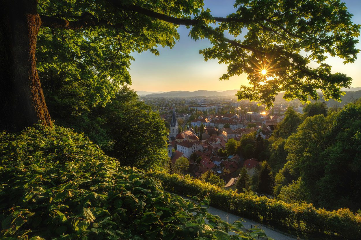 Sunset photo tour in Ljubljana
