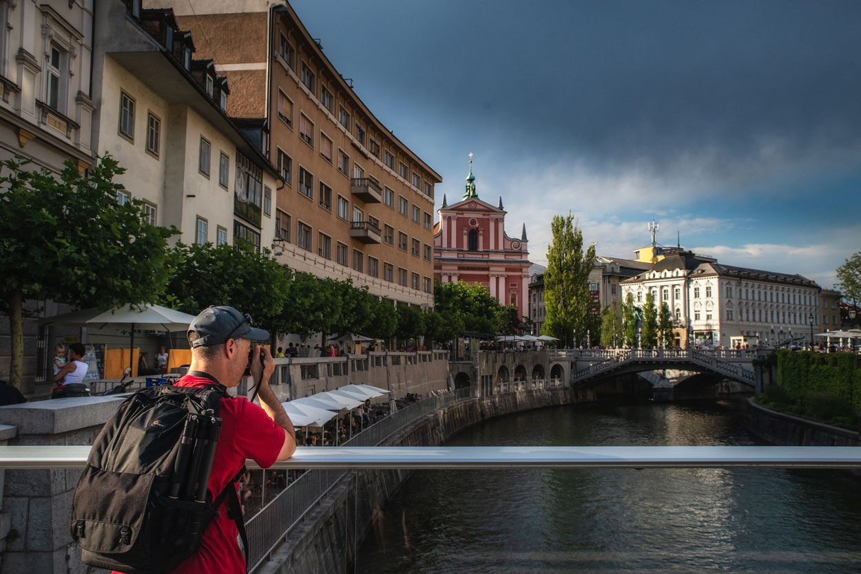 Photographer in Ljubljana center