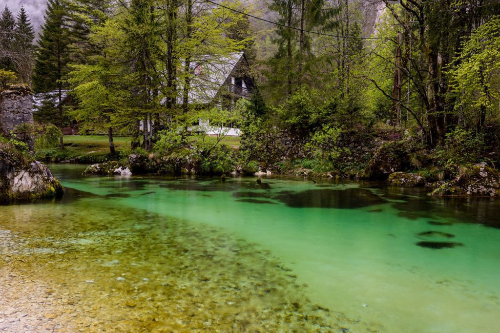 Discovering hidden places while rafting in Bohinj