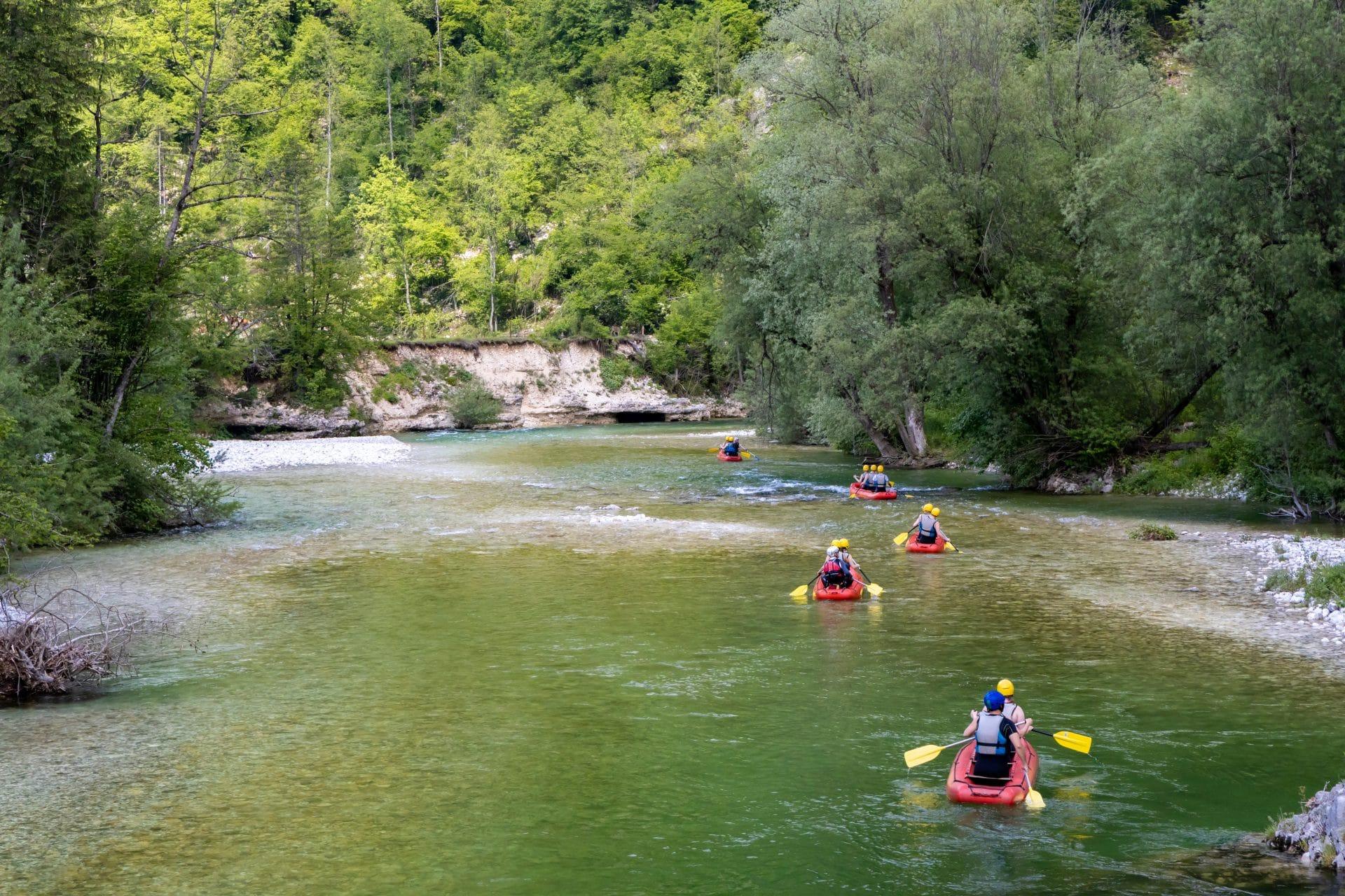 rafting bohinj slovenia