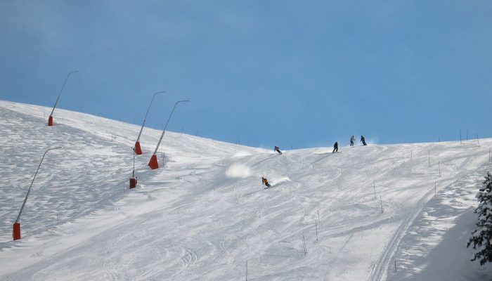 Skiing on Slovenian ski slopes