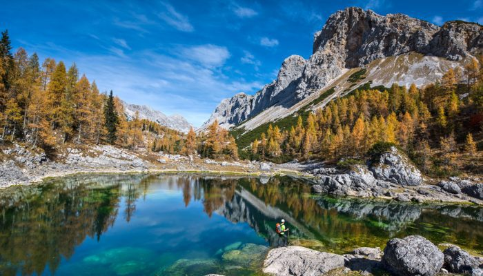 Hiking and discovering breathtaking views of Triglav lakes