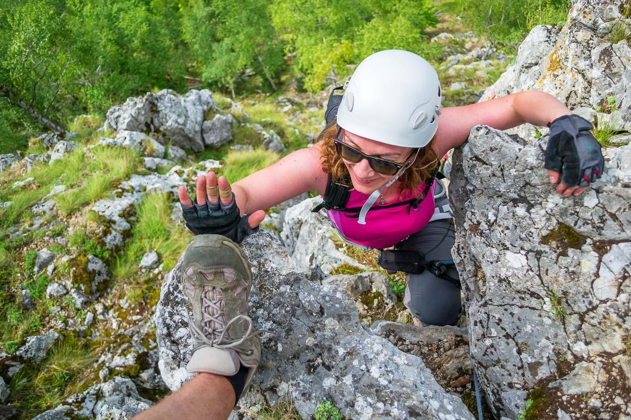Via ferrata successful climb