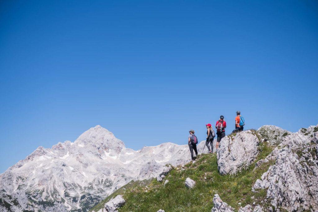 visevnik summit view of triglav