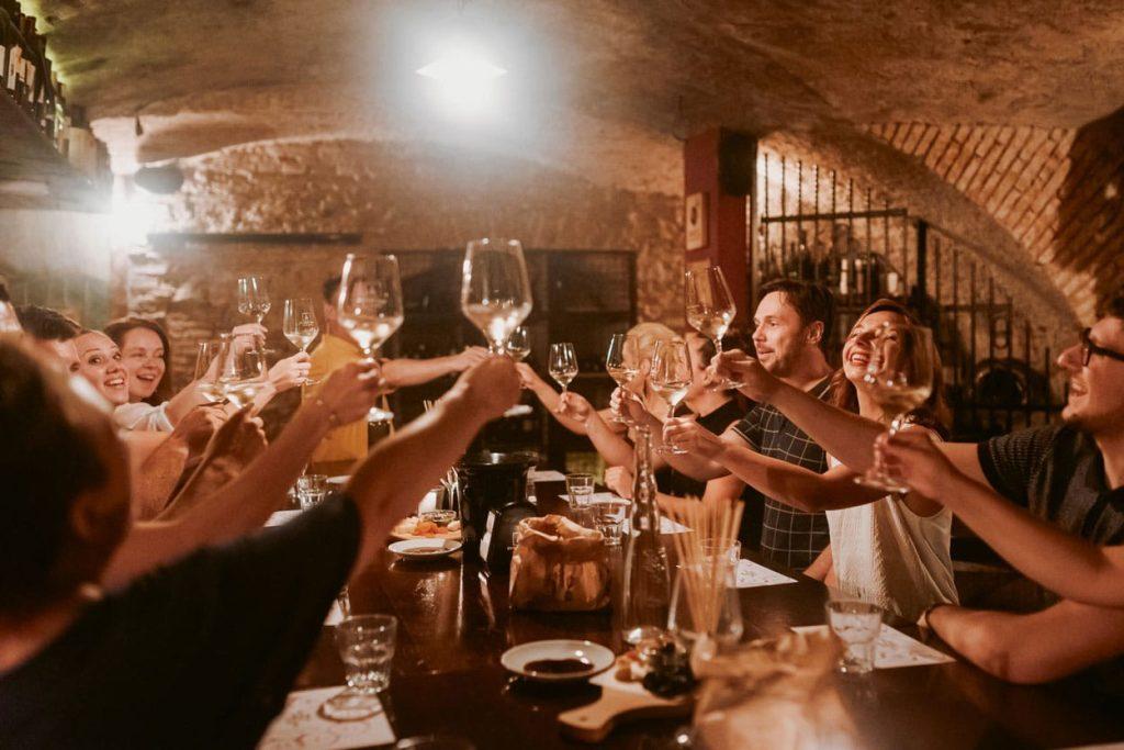 Wine tasting in Ljubljana old wine cellar